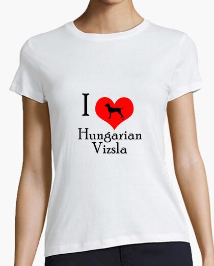 Tee-shirt i aime vizsla hongrois