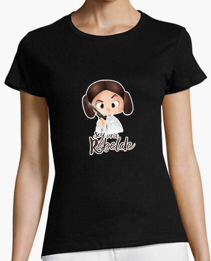 I am a rebel with a white edge - woman, short manga , black, premium quality t-shirt