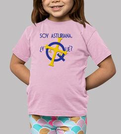 i am asturian, so what? - shirt for short-sleeved girl
