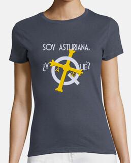 i am asturian, so what? dark background - short sleeve girl's t-shirt