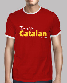 i am catalan - red & gold - white edge