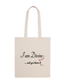 I am Divine bag black