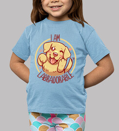 i am labradorable - golden labrador - kids shirt