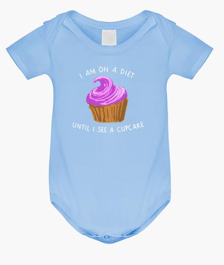 Ropa infantil I am on a diet until I see a cupcake