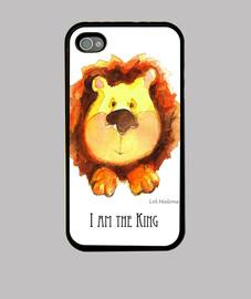 I AM THE KING funda iPhone 4