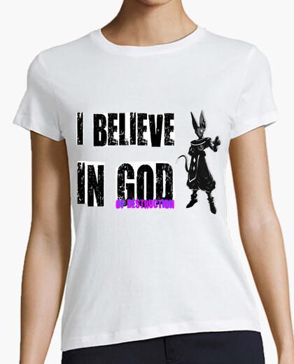 Camiseta I Believe In God Of Destruction (Mujer, Manga Corta)