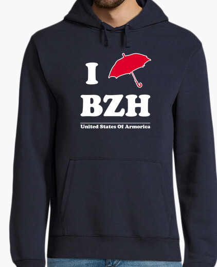 I bzh umbrella - man sweatshirt hoody