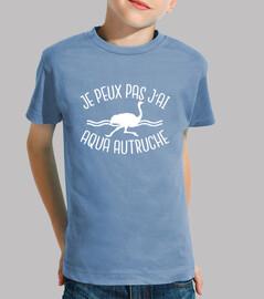 i can not i have aqua ostrich