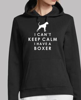 i cant keep calm ho un boxer - ragazza con cappuccio