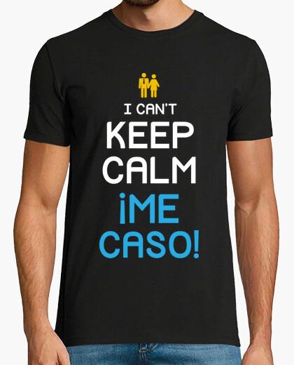 Camiseta I Can't Keep Calm, Me caso! (Novio)