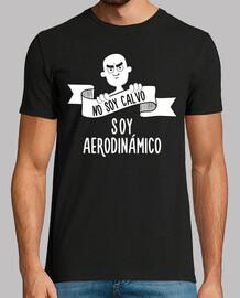 i do not I am bald, I am aerodynamic (dark background)