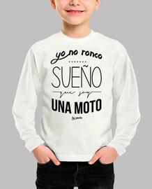 i do not snore, i dream i'm a motorbike