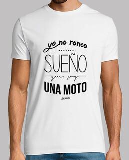 i do not snore, i dream that I am a bike