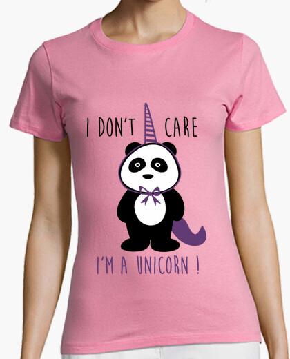 Tee-shirt I don't care i'm a unicorn