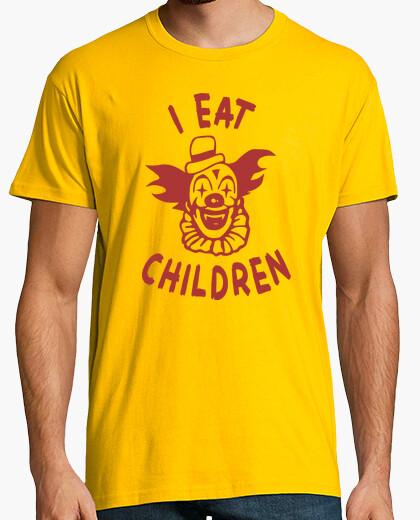 Camiseta I eat children payaso como niños