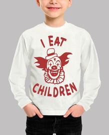 I eat children payaso como niños