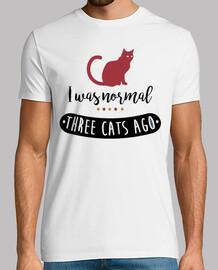 i était normalement il y a trois chats