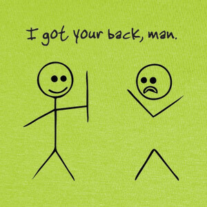 Camisetas I got your back man
