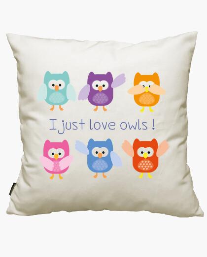 Funda cojín I just love owls!