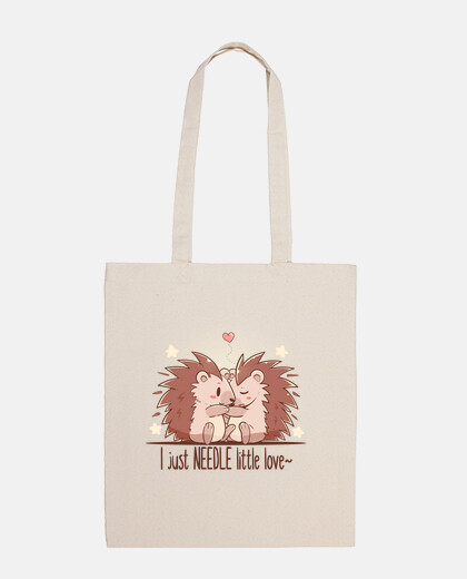 I just NEEDLE little love - Hedgehog - Tote Bag