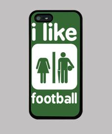 i like soccer - iphone case