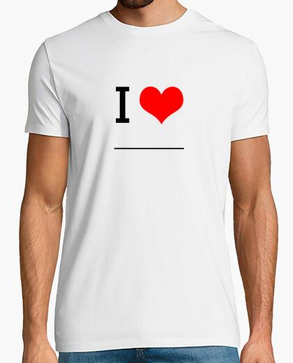 Camiseta I Love ________ (Compra, pinta y regala!