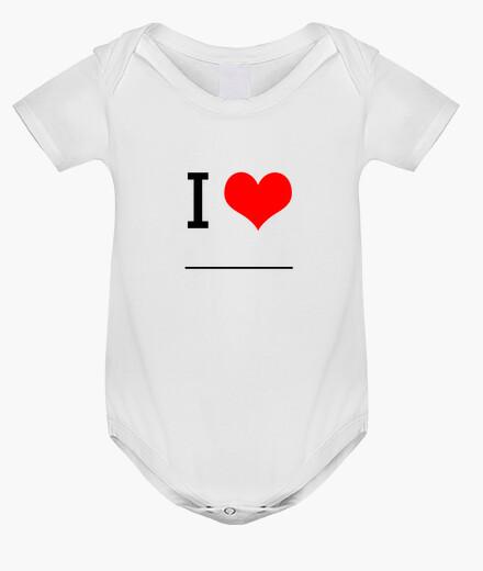 Ropa infantil I Love ________ (Compra, pinta y regala!