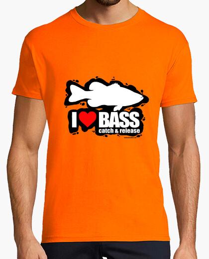 Camiseta I love bass Hombre