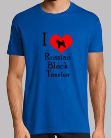 i love black terrier russe
