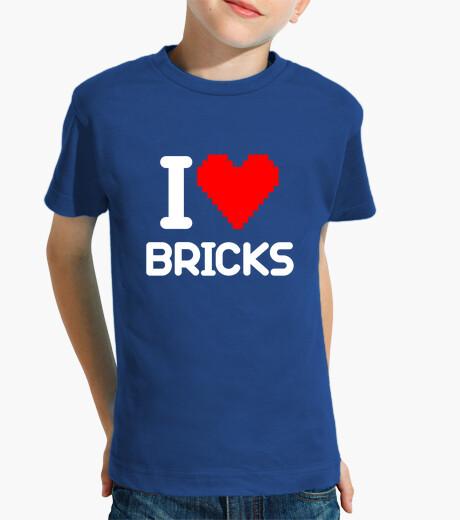 Ropa infantil I love Bricks (blanco)
