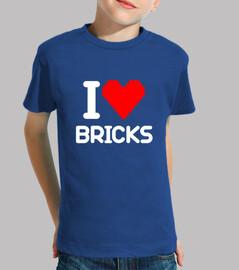 I love Bricks (blanco)
