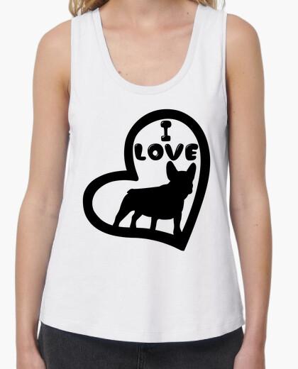 Camiseta I love bulldog francés