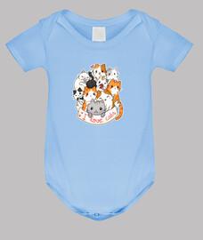 I love cats - chibi cute t-shirt