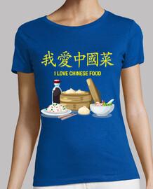I Love Chinese Food - Tshirt Femme