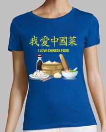 I Love Chinese Food Camiseta Chica