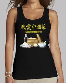 I Love Chinese Food Camiseta Chica Tirantes