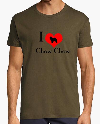 Camiseta I love chow chow