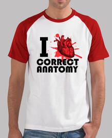 I LOVE CORRECT ANATOMY letra negra