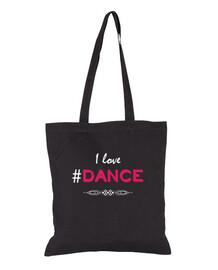 I Love Dance -bolsa negra