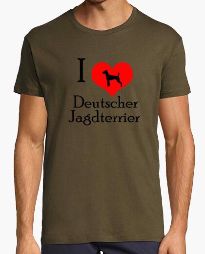 T-shirt i love deutscher jagdterrier