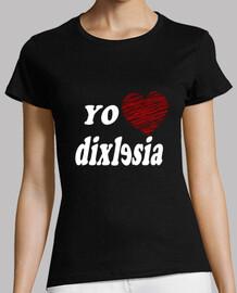 I love Dislexia - Mujer, manga corta, negra, calidad premium