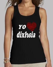 I love Dislexia - Mujer, sin mangas, negra