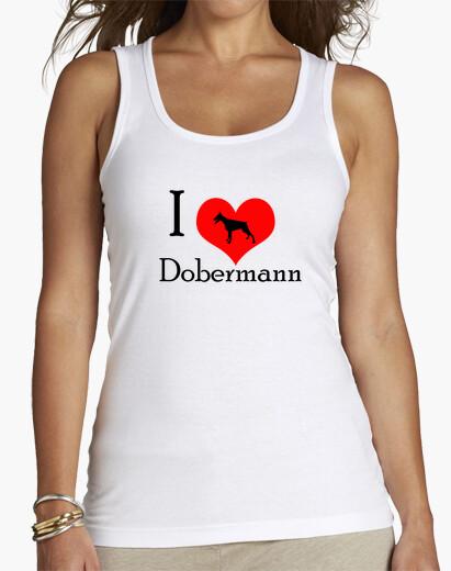 Tee-shirt I Love Dobermann