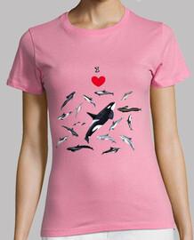 i love dolphins camieta