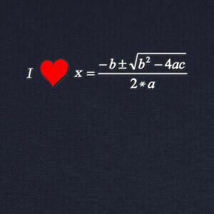Camisetas I Love Ecuación de Segundo Grado