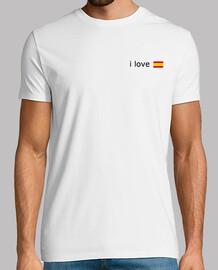 I LOVE ESPAÑA / Blanco Campeón de Europa (Logo grande)