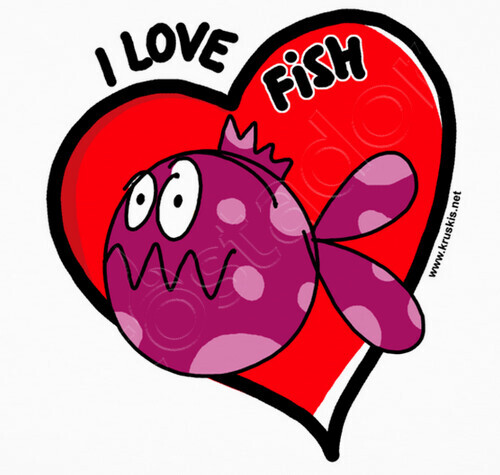 Camiseta pesca fdp i love fish n 101347 kruskis for I love the fishes
