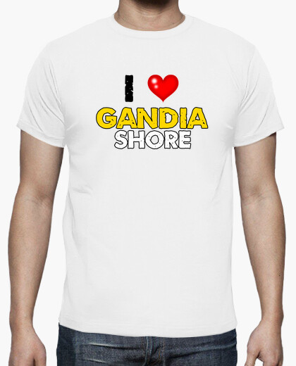 Camiseta i love Gandia Shore - Chico