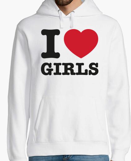 I love girls hoody