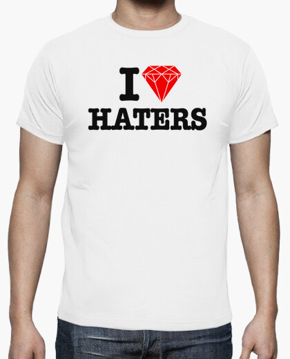 I love haters - diamond heart t-shirt